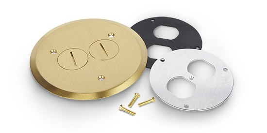 Metallic Duplex Receptacle Cover With
